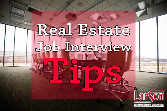 real estate job interview tips