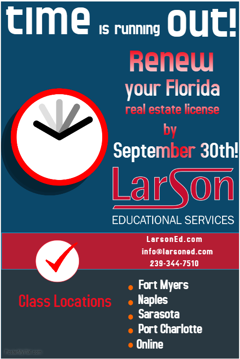 Time is Running Out! Renew Your Florida Real Estate License